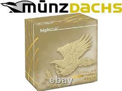 $100 Australian Wedge-Tailed Eagle High Relief 1 oz Gold 2014 Proof Australia