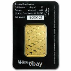 10 oz Gold Bar The Perth Mint (In Assay). 9999 Fine Gold