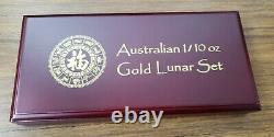 11 x 1/10 oz Gold Coin Set (2009 2019) Australia Lunar Series 2 (11 Coins)