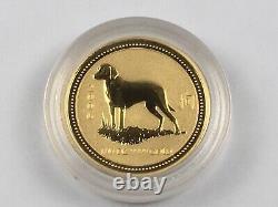 12 Pc Lot 1/10 oz Gold Perth Mint Australian Lunar Series I Coin Set 1999-2010