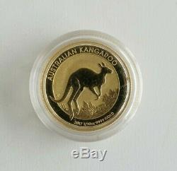 15 Dollars Goldmünze 2017 Australian Kangaroo 1/10 Unze Gold 999,9 Elizabeth II