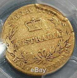 1858 Australian half sovereign RR error rare coin