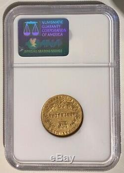 1864 Australia GOLD Coin Queen Victoria 1 Sovereign Wreath Crown NGC Antique