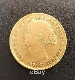 1870 AUSTRALIA SOVEREIGN Sydney Mint GOLD VF