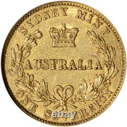 1870 Australia Gold Sovereign NGC XF40