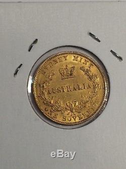1870 Australia Queen Victoria Sovereign Gold Coin