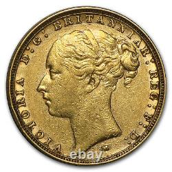 1872-1887-M Australia Gold Sovereign Young Victoria Avg Circ SKU #71214