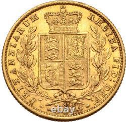 1875 Australian Gold Sovereign Young Head Sheild Reverse Sydney VF/EF