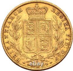 1880 Australian Gold Sovereign Young Head Sheild Reverse Sydney EF/EF+ Lustre