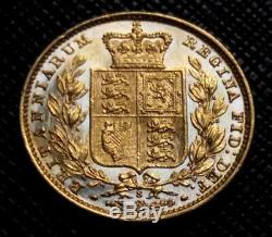 1880 S Australia Shield Back Sovereign Km # 6 Superb Grade Beauty Gold Coin