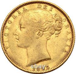1882 Australian Gold Sovereign Young Head Sheild Reverse Sydney VF/VF+