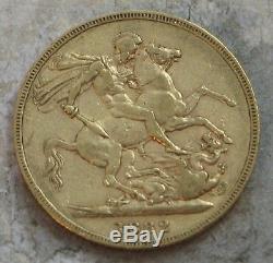 1882-m Australia Victoria Young Head Gold Soveriegn