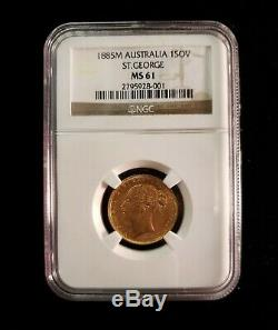 1885M Australia 1SOV St. George MS 61 NGC (Sovereign)