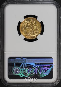 1886M Australia Gold Sovereign St. George NGC MS-61 -171891