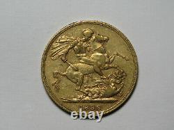 1886-M Australia Gold Sovereign Victoria Young Head