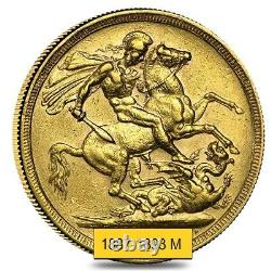 1887-1893-M Australia Gold Sovereign Victoria Jubilee Avg Circ