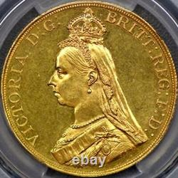 1887 Queen Victoria £5 five pound gold coin PCGS MS62