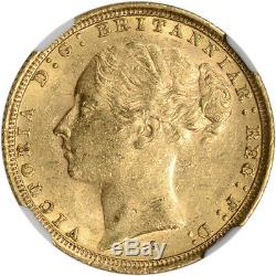 1887 S Australia Gold Sovereign Young Head & St. George NGC MS61