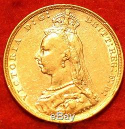 1888 Australia Gold Sovereign. 2354 A6W Foreign Coin Free S/H