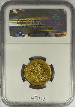 1892 M Australia Gold Sovereign, Victoria Jubilee, Melbourne, NGC AU 50