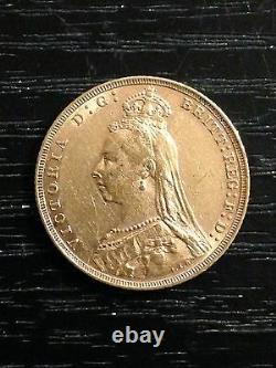 1892 M Sovereign Queen Victoria Jubilee Head Gold coin St George Melbourne