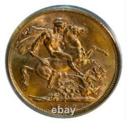 1893 Melbourne Jubilee Gold Sovereign PCGS AU 58 CV $1050