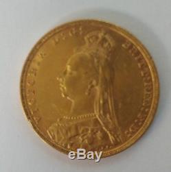 1893 Queen Victoria British Sovereign Gold Coin Melbourne Australia Rare Jubilee