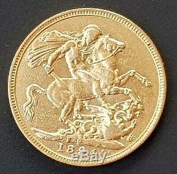 1894 Australian Gold Sovereign Coin Queen Victoria Veil Head 91.67% Gold