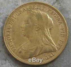 1895-m Australia Gold Victoria Sovereign