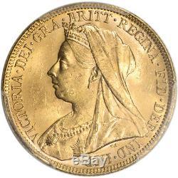 1896 M Australia Gold Sovereign PCGS MS62 S-3875