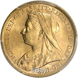 1896 M Australia Gold Sovereign PCGS MS63 S-3875