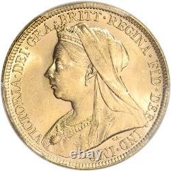 1897 M Australia Gold Sovereign PCGS MS63 S-3875