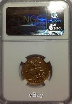 1898 M Australian Soverign Victoria, Gold NGC MS 62 Melbourne Mint
