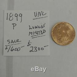 1899-P Gold Sovereign Old Head UNC & Low Mintage Free Shipping
