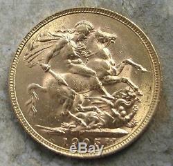 1905-m Australia King Edward Gold Soveriegn