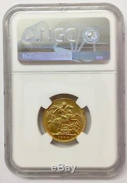 1906P Australia Gold Sovereign NGC AU58