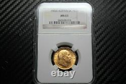 1906 S Australia Gold Sovereign NGC MS63 (05013)