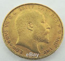 1907 P Australian Full Sovereign Edward VII Perth Gold Coin