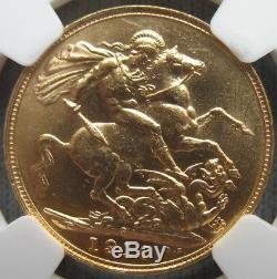 1910-S Australia Sovereign NGC MS-62