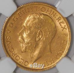 1911S Australia Sovereign #4467201-002 MS63 NGC