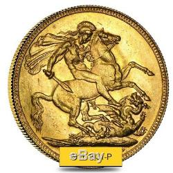 1911-1931-P Australia Gold Sovereign George V Avg Circ