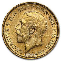 1911-1931-S Australia Gold Sovereign George V AU SKU #45004