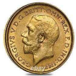 1911-1931-S Australia Gold Sovereign George V Avg Circ
