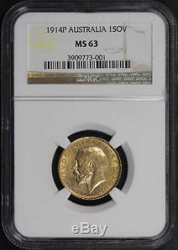 1914P Australia Gold Sovereign NGC MS-63 -141990