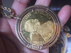1915 Australian Gold 4 Ducat Coin Pendant Leaving Soon