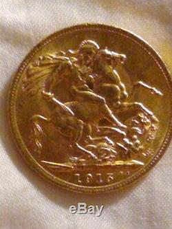 1915 BU Gold Bitish Sovereign Uncirculated