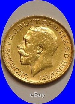1917 S GOLD Sovereign of Australia full Mint LUSTER. 2354 oz AGW Dragonslayer