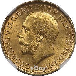 1918S Australia Gold 1 Sovereign 1SOV MS 65 NGC Pop= 34/3