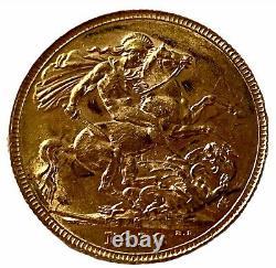 1918 Gold Full Sovereign Coin King George V Melbourne Mint Unique Rare Mark