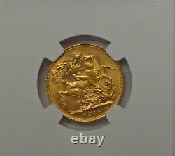 1918 P AUSTRALIA 1 GOLD Sovereign NGC MS61